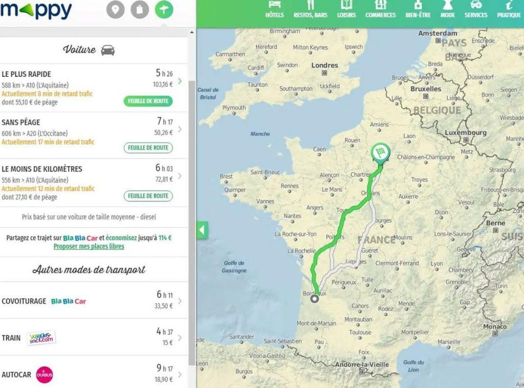 trajet-mappy-itineraire-voiture